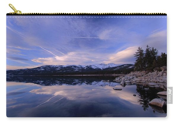 Carry-all Pouch featuring the photograph Reflection In Winter by Sean Sarsfield