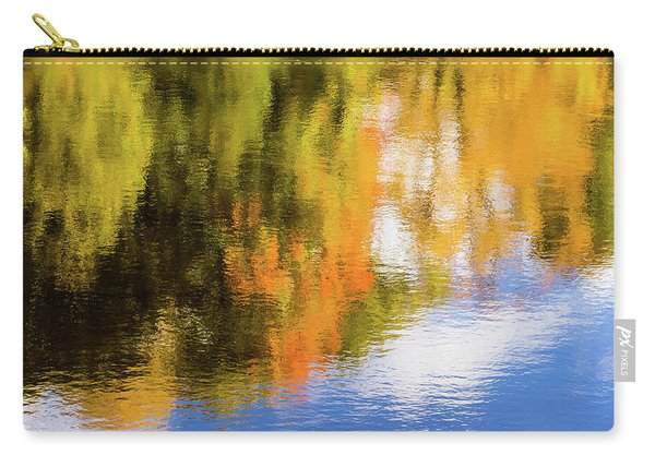 Reflection Of Fall #2, Abstract Carry-all Pouch