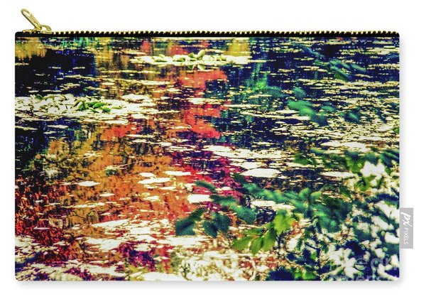 Reflection On Oscar - Claude Monet's  Garden Pond  Carry-all Pouch
