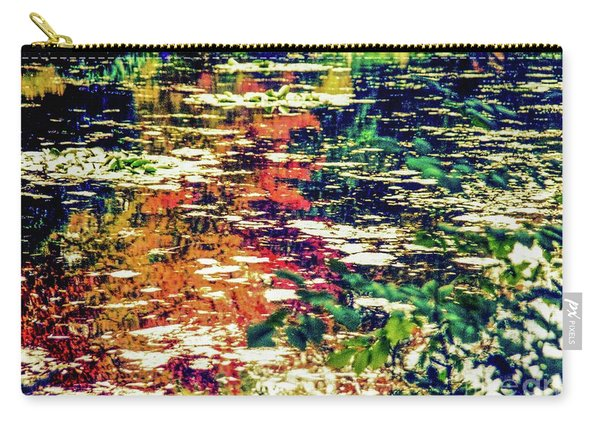 Reflection On Oscar - Claude Monet's  Garden Pond  Carry-all Pouch