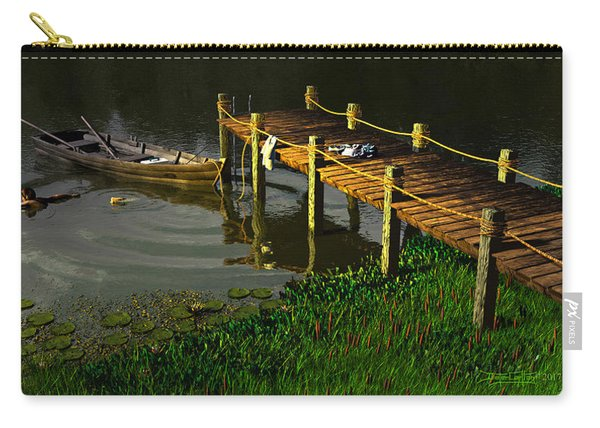 Reflections In A Restless Pond Carry-all Pouch