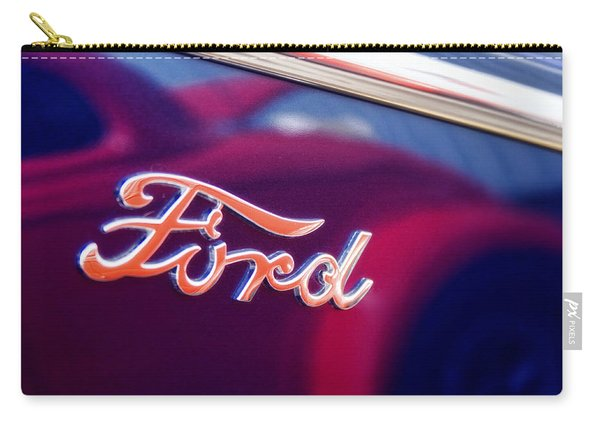 Reflections In An Old Ford Automobile Carry-all Pouch