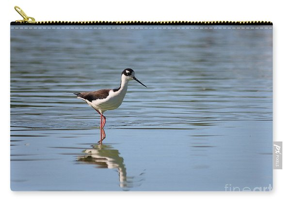 Reflections Of A Black Necked Stilt 2 Carry-all Pouch