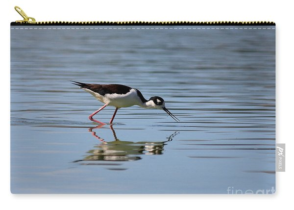 Reflections Of A Black Necked Stilt Carry-all Pouch