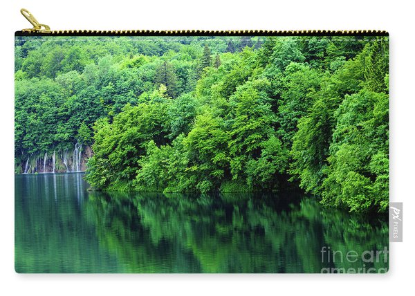 Reflections Of Plitvice, Plitvice Lakes National Park, Croatia Carry-all Pouch