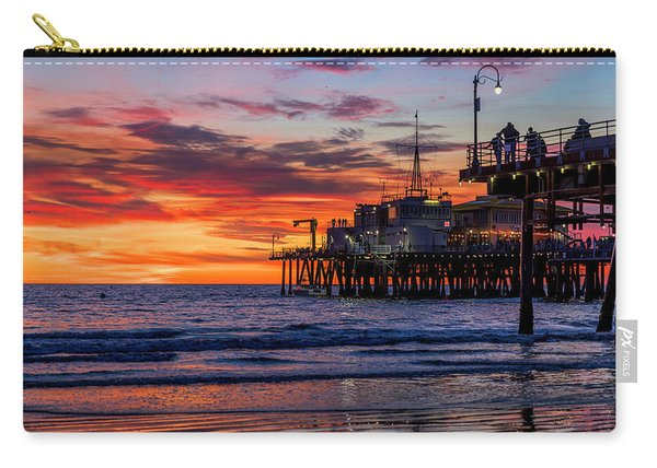 Reflections Of The Pier Carry-all Pouch
