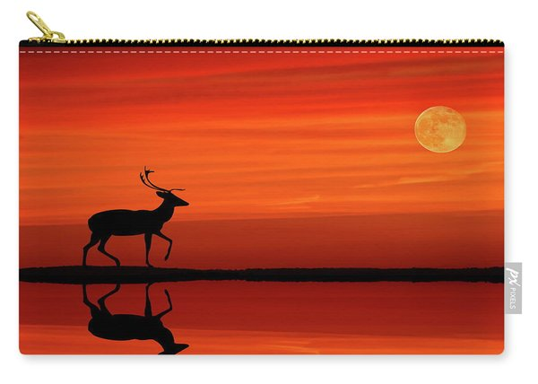 Reindeer By Moonlight Carry-all Pouch
