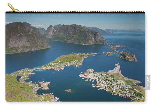 Reine, Hamnoy, Sakrisoy From Reinebringen Carry-all Pouch