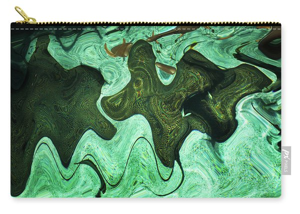 Relaxing Abstract Of Rays And Sharks Carry-all Pouch
