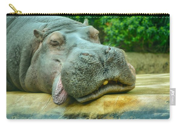 Relaxing Hippo Carry-all Pouch