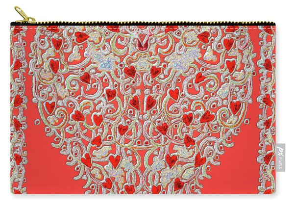 Renaissance Style Heart Carry-all Pouch