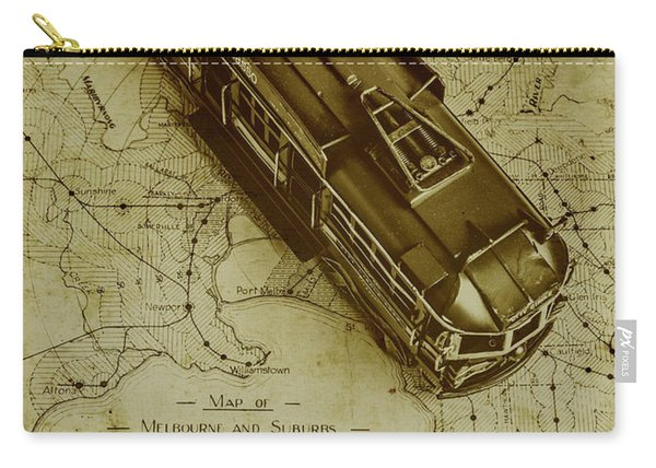 Replicating Past Tram Transit Carry-all Pouch