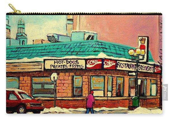 Restaurant Greenspot Deli Hotdogs Carry-all Pouch