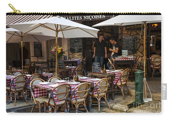 Restaurant On Rue Pairoliere In Nice Carry-all Pouch