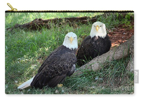 Resting Bald Eagles Carry-all Pouch