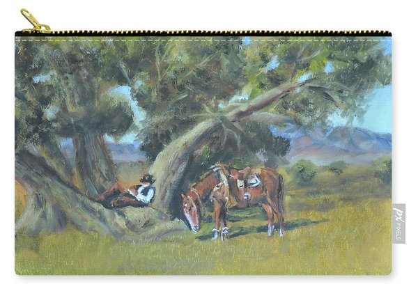 Resting Cowboy Painting A Study Carry-all Pouch