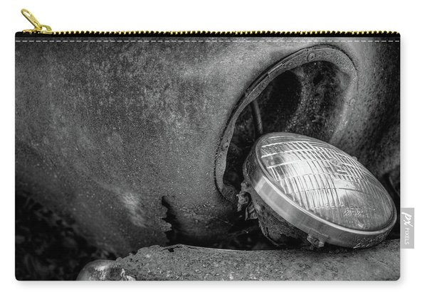 Resting Headlight Of Rusty Car Carry-all Pouch