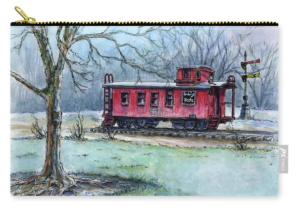 Retired Red Caboose Carry-all Pouch