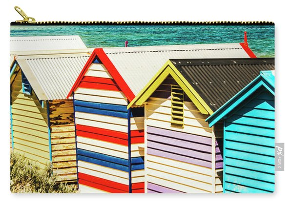 Retro Beach Boxes Carry-all Pouch