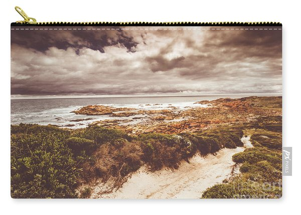 Retro Beach Tracks Carry-all Pouch