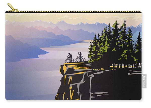 Retro Beautiful Bc Travel Poster Carry-all Pouch