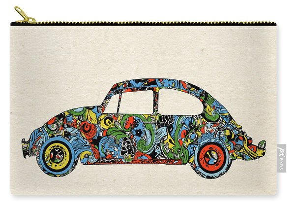 Retro Beetle Car 3 Carry-all Pouch