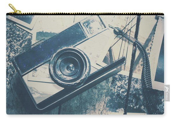 Retro Camera And Instant Photos Carry-all Pouch