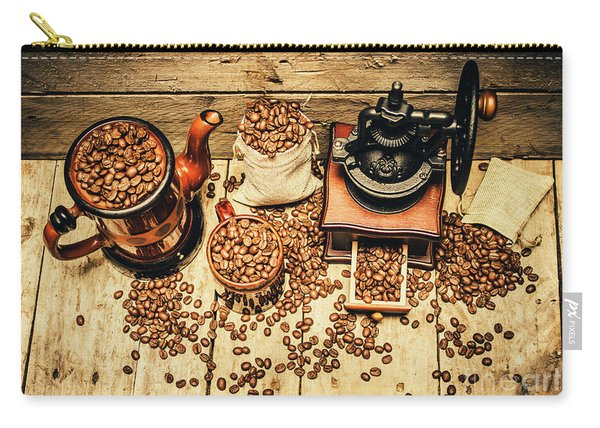 Retro Coffee Bean Mill Carry-all Pouch