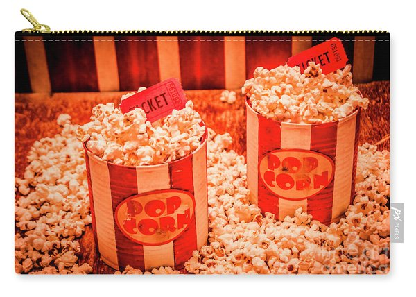 Retro Film And Entertainment Scene Carry-all Pouch