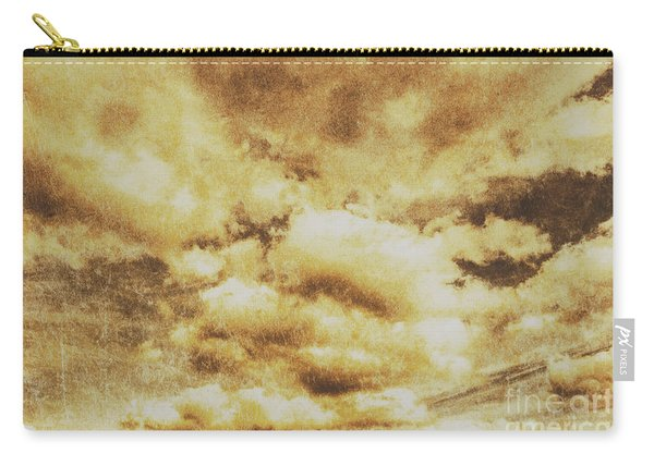 Retro Grunge Cloudy Sky Background Carry-all Pouch