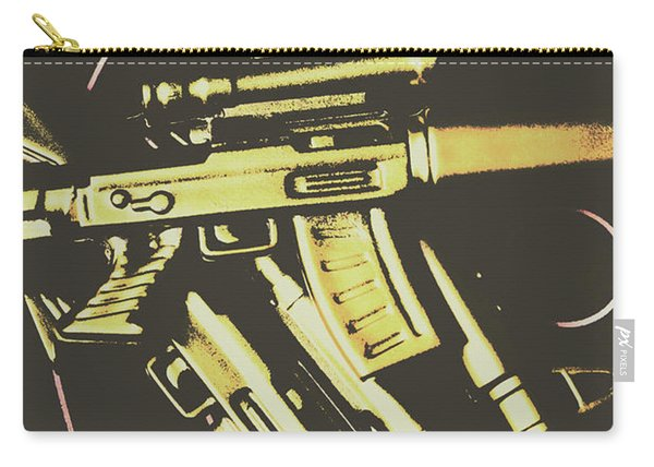 Retro Guns And Targets Carry-all Pouch