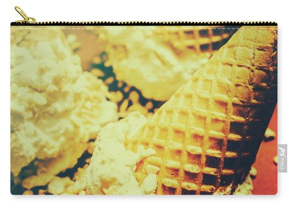 Retro Ice Cream Artwork Carry-all Pouch