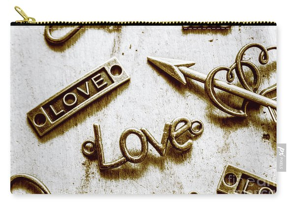 Retro Love Heart Jewels  Carry-all Pouch