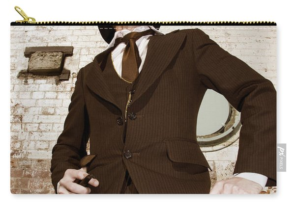 Retro Nobel Man Carry-all Pouch