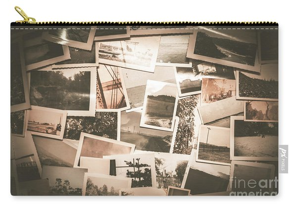 Retro Photo Album Background Carry-all Pouch