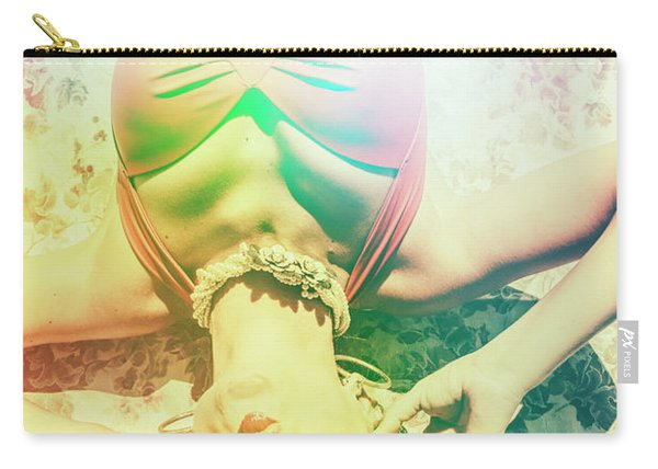 Retro Pin-up Pool Party Carry-all Pouch