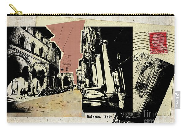 retro postcard of Bologna Carry-all Pouch