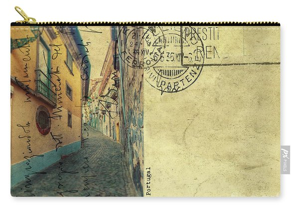 retro postcard of Porto, Portugal  Carry-all Pouch