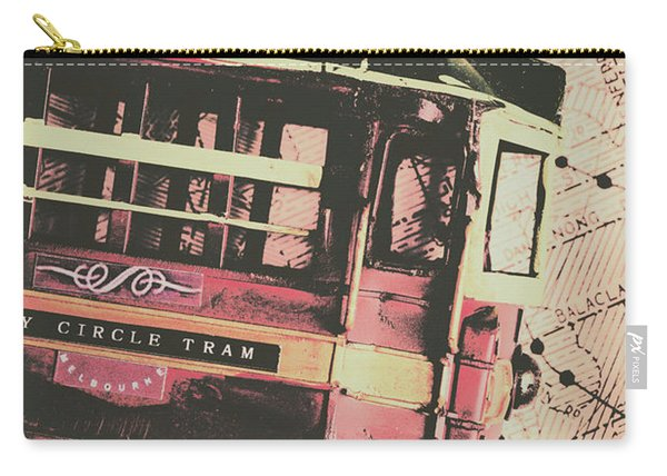 Retro Streets And Urban Trams Carry-all Pouch