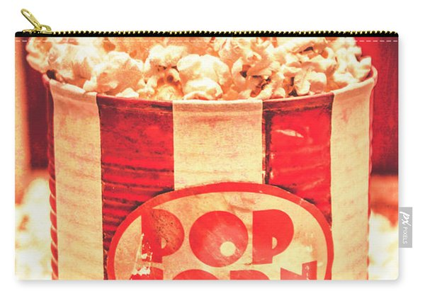 Retro Tub Of Butter Popcorn And Ticket Stub Carry-all Pouch