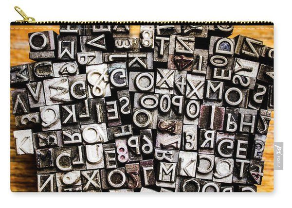 Retro Typesetting In Print Carry-all Pouch