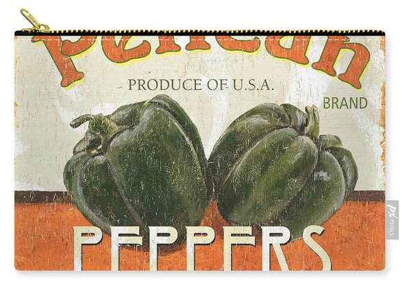 Retro Veggie Labels 3 Carry-all Pouch