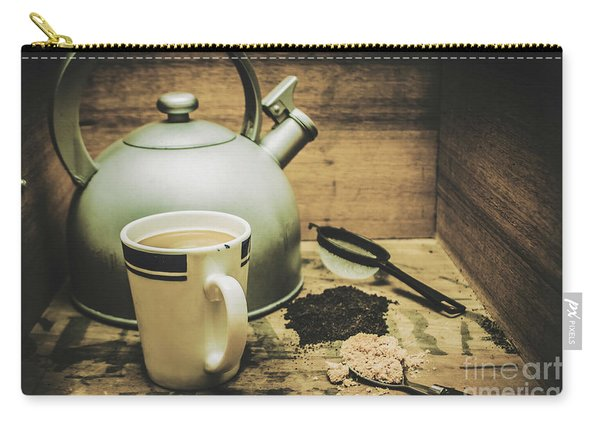 Retro Vintage Toned Tea Still Life In Crate Carry-all Pouch
