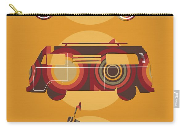 Retro Wheels 70s Yellow Carry-all Pouch