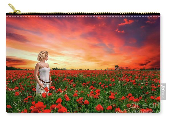 Rhapsody In Red Carry-all Pouch