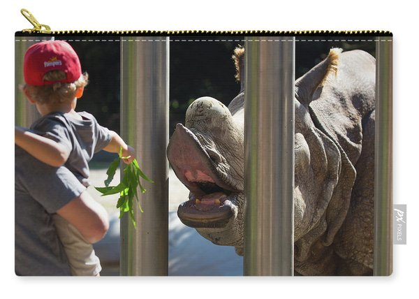 Rhino Eating Grass Carry-all Pouch