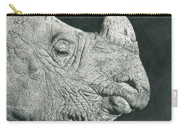 Rhino Pencil Drawing Carry-all Pouch