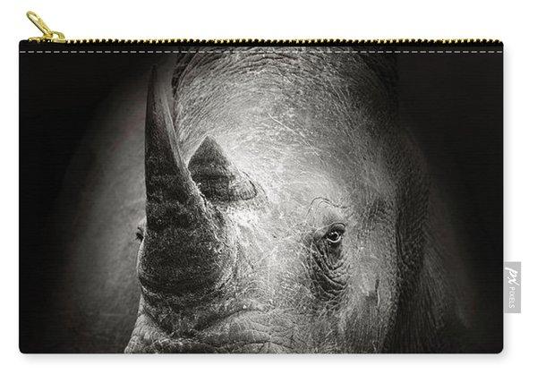 Rhinoceros Portrait Carry-all Pouch