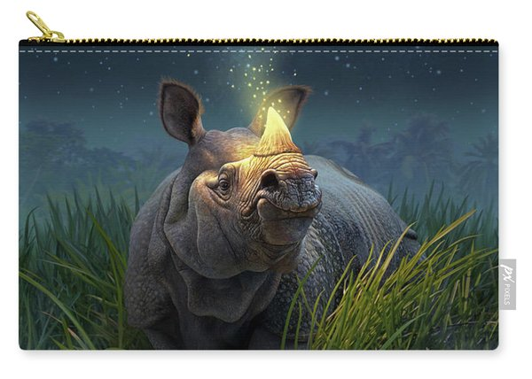 Rhinoceros Unicornis Carry-all Pouch