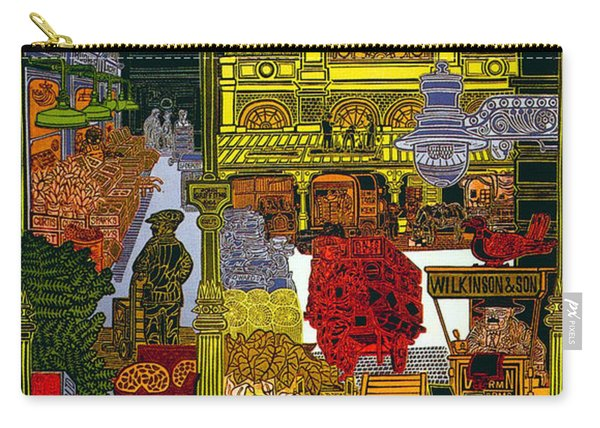 Rhubarb And Roses - Underground To Covent Garden - London Underground - Retro Travel Poster Carry-all Pouch
